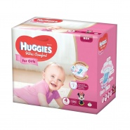 Huggies Ultra Comfort nr 4 (8 -14 kg) for girls 19 bucati