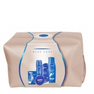 Nivea Blue Care Set Cadou Spuma de dus Creme Care 200 ml + Sampon Hairmilk pentru fir normal 250 ml + Crema hidratanta 75 ml + Balsam de buze 4.8 g + Deodorant spray 150 ml