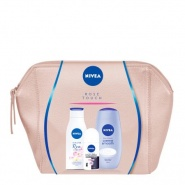 Nivea Rose Touch Set Cadou Lotiune de corp Cherry Blossom 200 ml + Gel de dus Creme Smooth 250 ml + Deodorant roll-on Invisible for Black&White Clear 50 ml