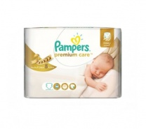 Pampers Premium Care New Born Scutece nr.1 2-5 kg 27 bucati