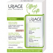 Uriage Pachet Hyseac 3-Regul Crema coloranta SPF 30 40 ml + Apa micelara termala ten mixt gras 100 ml